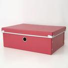 附蓋硬式紙整理收納盒M-紅【I0139-01】
