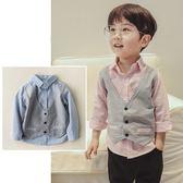 假兩件式紳士背心襯衫 長袖上衣 橘魔法 Baby magic 現貨 兒童 童裝 童 中童 男童 襯衫