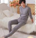 男士睡衣 春夏款棉睡衣男長袖家居服套裝  居家服