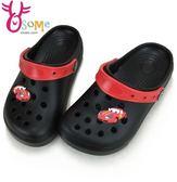 男童布希鞋 中童 台灣製 汽車 洞洞 防水輕量園丁鞋 涼拖鞋H5531#黑色◆OSOME奧森童鞋/小朋友
