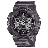 CASIO G-SHOCK指針數位雙顯錶款/GA-100CM-8ADR
