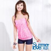 【SUMMERLOVE夏之戀】流行動物紋長版二件式泳衣-S15724
