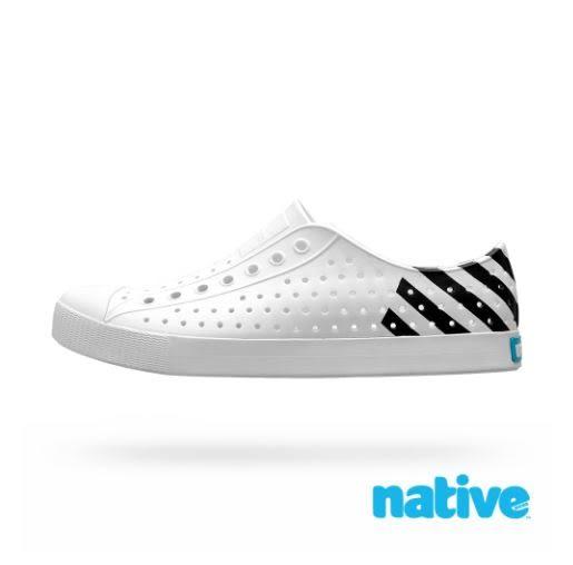 Native 男女款白黑色情侶休閒鞋-NO.11100102-8741