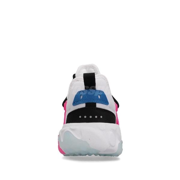 Nike 休閒鞋 REACT Presto GS 白 粉紅 襪套式 女鞋 大童鞋 運動鞋 【ACS】 BQ4002-101