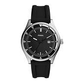 【Fossil】Belmar簡約運動風設計時尚橡膠摩登腕錶-經典黑/FS5535/台灣總代理公司貨享兩年保固