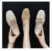 豆豆鞋 仙女春秋單鞋女粗跟中跟百搭冬季加絨溫柔奶奶豆豆鞋子-Milano米蘭