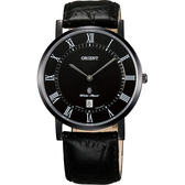 ORIENT東方 羅馬復刻手錶-黑/38mm FGW0100DB