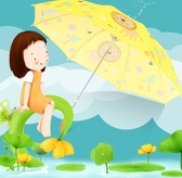 兒童雨傘兒童傘卡通小學生動物雨傘男女寶寶兒童傘長柄傘YYP 蜜拉貝爾