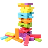 彩色兒童益智力疊疊高抽積木大號疊疊樂玩具