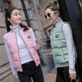 新品韓版修身短款外套春秋裝女學生馬甲百搭坎肩羽絨棉衣背心