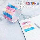 【ESTAPE】Memo 易撕貼|幾何2版組合(15mm x 55mm/可書寫/標籤/註記)