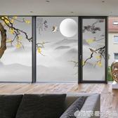 中式花鳥玻璃貼紙透光不透明窗貼磨砂貼膜陽台臥室窗戶貼紙中國風  (橙子精品)