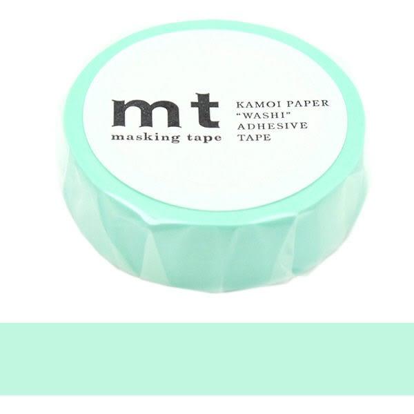 日本mt Masking Tape 和紙膠帶 柔和翡翠藍色 15mm
