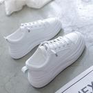 小白鞋女2021新款秋冬季棉鞋百搭網紅板鞋厚底老爹鞋加絨運動白鞋寶貝計畫 上新