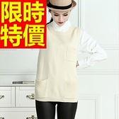 女款毛衣背心清新優質-韓版無袖禦寒羊毛女針織衫3色63aa59【巴黎精品】