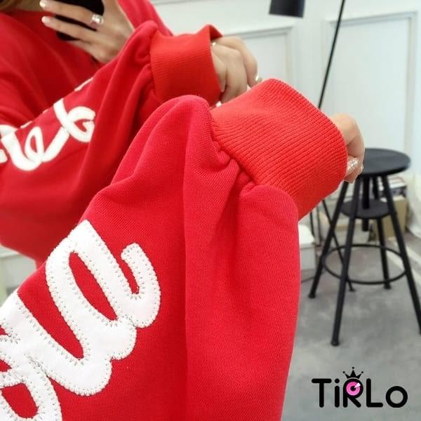 長T-Tirlo-可樂英字刺繡燈籠袖長T-三色(現+追加預計5-7工作天出貨)