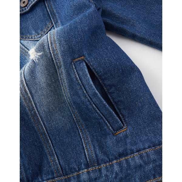 CACO-刷色牛仔外套(兩色)-女【TAR011】