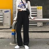 黑色高腰運動休閒褲長褲子女寬鬆直筒春秋季2021新款 米娜小鋪