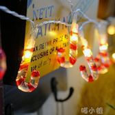 聖誕節燈串臥室房間電池燈串裝飾小燈戶外串酒吧diy迷你彩燈掛燈  喵小姐