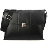 Calvin Klein CK LOGO壓紋多功能掀蓋斜背包(黑色)103309
