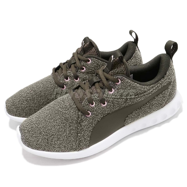 Puma 慢跑鞋 Carson 2 Knit NM Wns 綠 軍綠 白 基本款 運動鞋 女鞋【ACS】 19108502