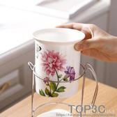 陶瓷筷子筒瀝水廚房 韓式筷籠筷簍收納架筷子盒掛式套裝家用「Top3c」