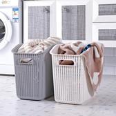 髒衣籃塑料洗衣籃手提籃玩具衣物浴室髒衣服收納筐日式髒衣簍大號 LannaS YTL