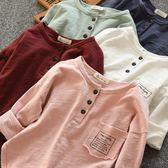 軟軟竹節棉 兒童長袖寬鬆T恤