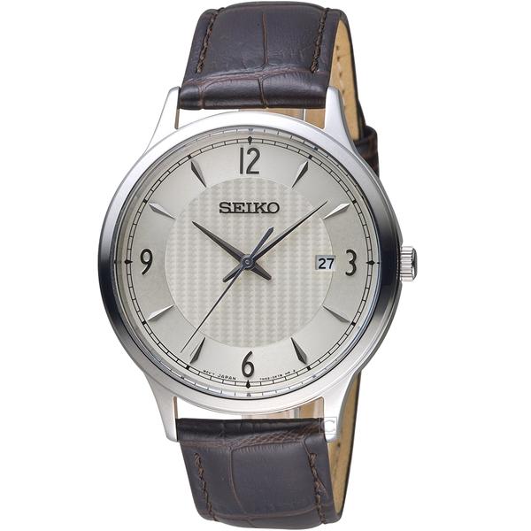 SEIKO精工CS系列經典雋永腕錶 SGEH83P1 7N42-0GJ0C 咖啡