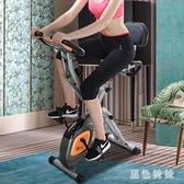 健身腳踏車磁控動感單車家用折疊超靜音腳踏自行車健身車運動器材WL2748【黑色妹妹】