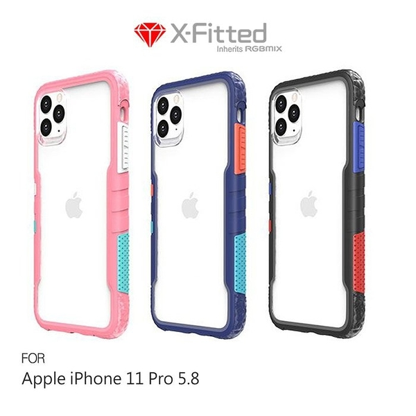 X-Fitted Apple iPhone 11 Pro(5.8吋) Chameleon 彩框保護殼 軟邊硬殼