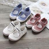 女童鞋 女童鞋子2018春季新款韓版3-6歲寶寶公主單鞋幼兒園室內鞋帆布鞋【好康89折限時優惠】