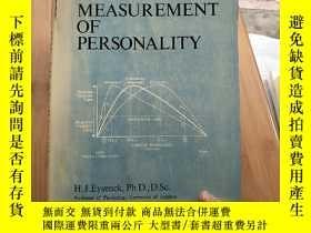 二手書博民逛書店THE罕見MEASUREMENT OF PERSONALITY 見圖Y171144 H.J.Eysenck,P