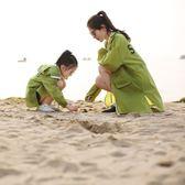 【熊貓】親子款兒童防曬衣女夏超薄透氣母女中長款