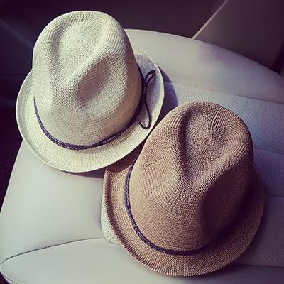 漁夫帽紳士帽ManStyle潮流嚴選韓版英倫皮繩蝴蝶結漁夫帽捲邊爵士帽小禮帽紳士帽【02U0171】