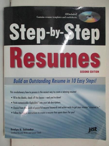 【書寶二手書T1/財經企管_EOB】Step-By-Step Resumes: Build an Outstanding…