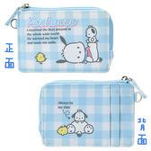【KP】帕恰狗格紋票卡套 票卡夾 三麗鷗 Sanrio 收納 零錢包 正版日本進口授權 4901610084618