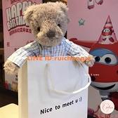 紳士熊公仔玩偶安撫玩偶兒童女生生日禮物毛絨玩具【大碼百分百】