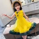 女童連身裙 新款韓版女童無袖背心連身裙洋氣公主裙兒童時尚裙子女孩夏裝 韓菲兒