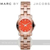 【南紡購物中心】MARC BY MARC JACOBS國際精品Amy潮流時尚腕錶-紅x玫瑰金/26mm MBM3305