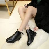 短靴 chic馬丁靴女新款學生單靴韓版  萬客居