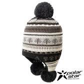 【PolarStar】花色造型覆耳保暖帽『黑』P17621 毛球帽 針織帽 毛帽 毛線帽 帽子