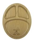 山毛櫸分隔餐盤 兒童餐盤 三格餐盤 原木餐盤
