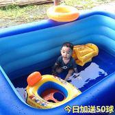 兒童充氣游泳池加厚新生兒寶寶家用游泳桶嬰兒小孩玩具洗澡戲水池 莫妮卡小屋