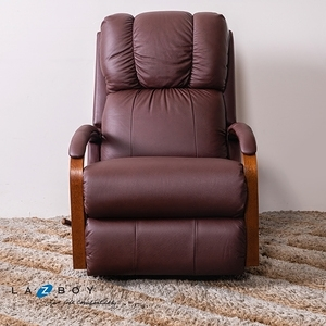 La-Z-Boy 搖椅式休閒椅 RHT532 半牛皮 酒紅色
