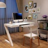凡積簡約現代 鋼化玻璃電腦桌台式家用辦公桌 簡易學習書桌寫字台