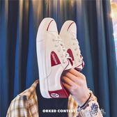 情侶款小白鞋男士學生夏季百搭韓版潮流帆布鞋原宿板鞋子 盯目家