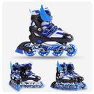 兒童全套裝直排輪滑旱冰鞋可調節 igo