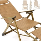 涼蓆編織折疊椅.復古PPC雙面籐椅.海灘...