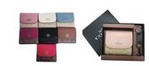 ~雪黛屋~COACH 短夾+匙扣禮盒三折暗釦國際正版保證進口防水防刮皮革品證購證盒塵套提袋C875891A